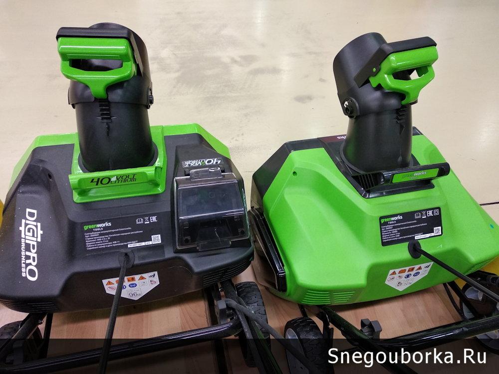 Сравнение аккумуляторного и электрического снегоуборщика